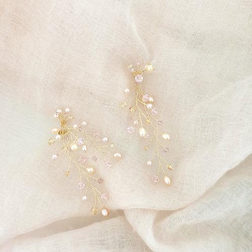Special pink Myra earrings