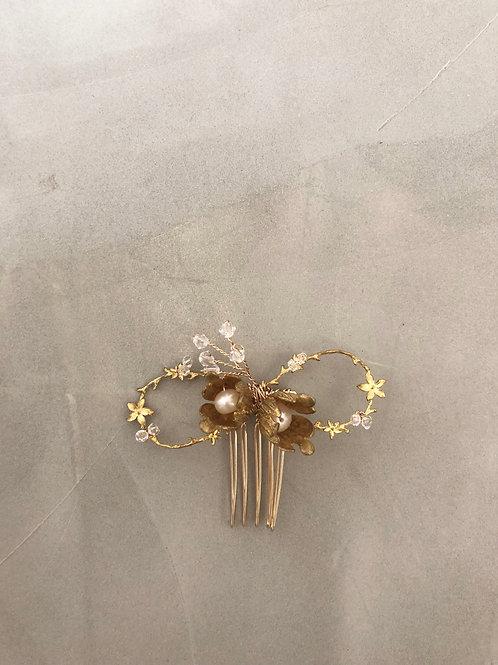 21 Gold mini hair comb (Belle)