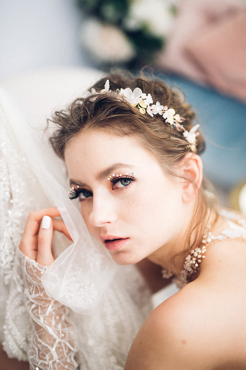 Marie Antoinette hair vine