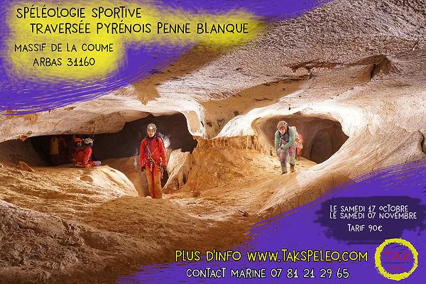 poster_spéléo_pyrénois_penne_blanque.