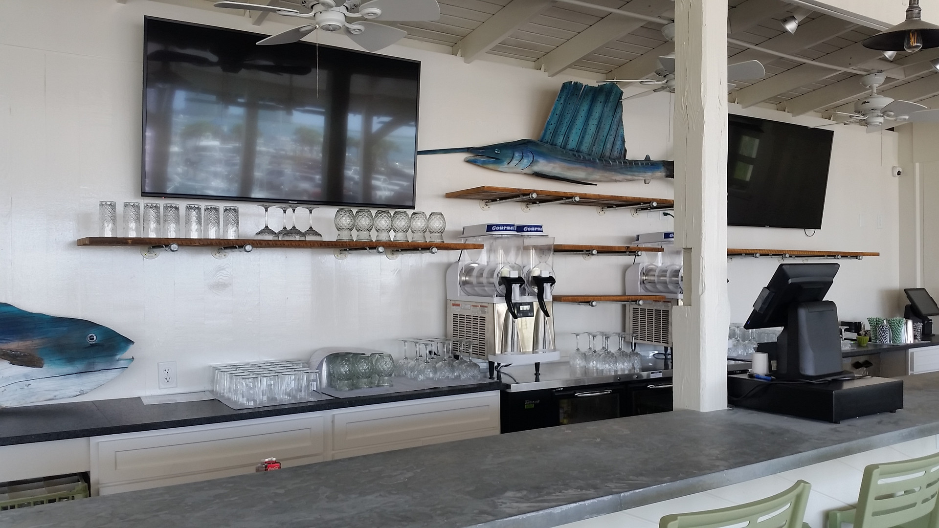 Custom Bar Top & Shelving
