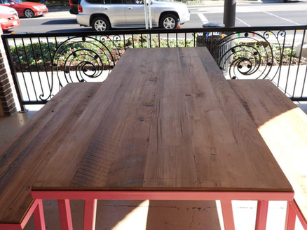 Pink Picnic Table