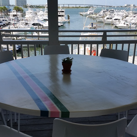 """60"""" Round Painted Tables"""