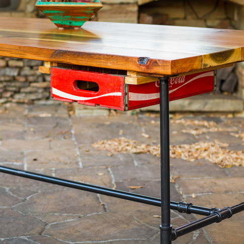 Gas Pipe Desk with Drawer