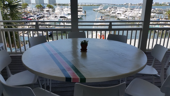 Custom Painted Round Tables