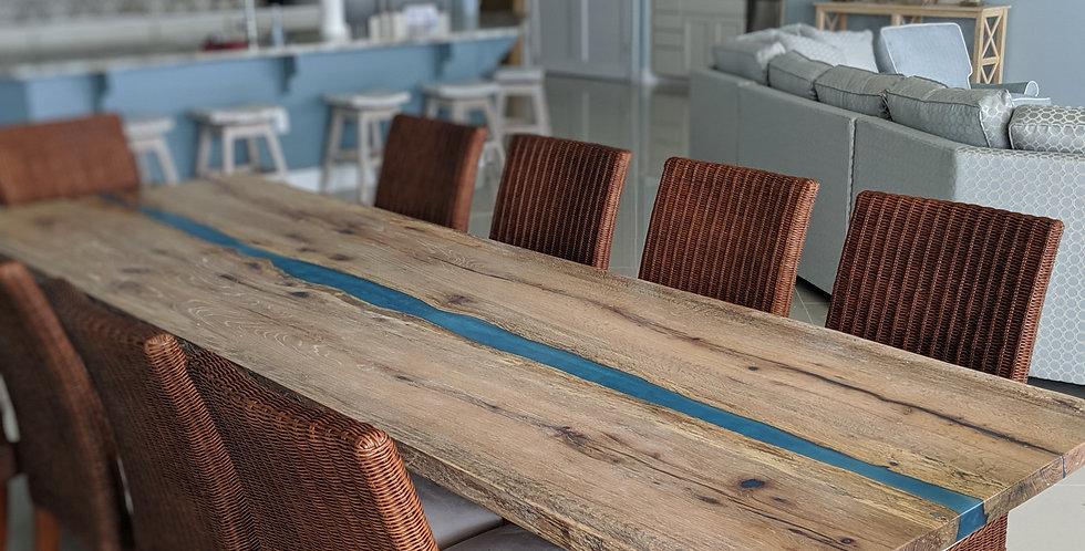 White Oak Slab Table, 10ft
