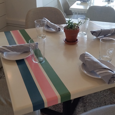 Square Painted Tables