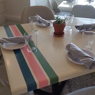 Striped Square Tables