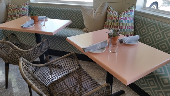 Peach Painted Tables