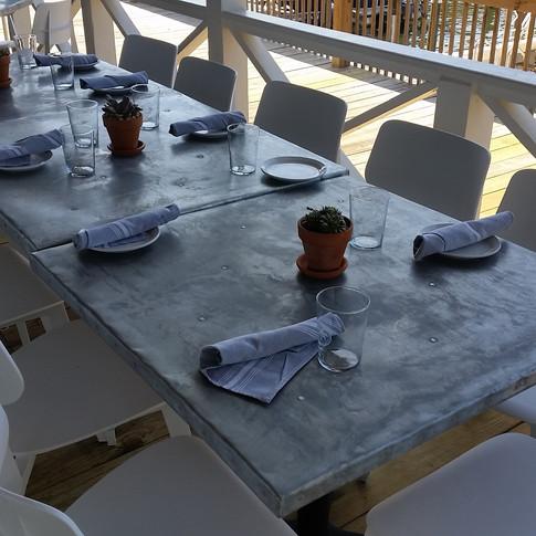 Zinc Table Tops