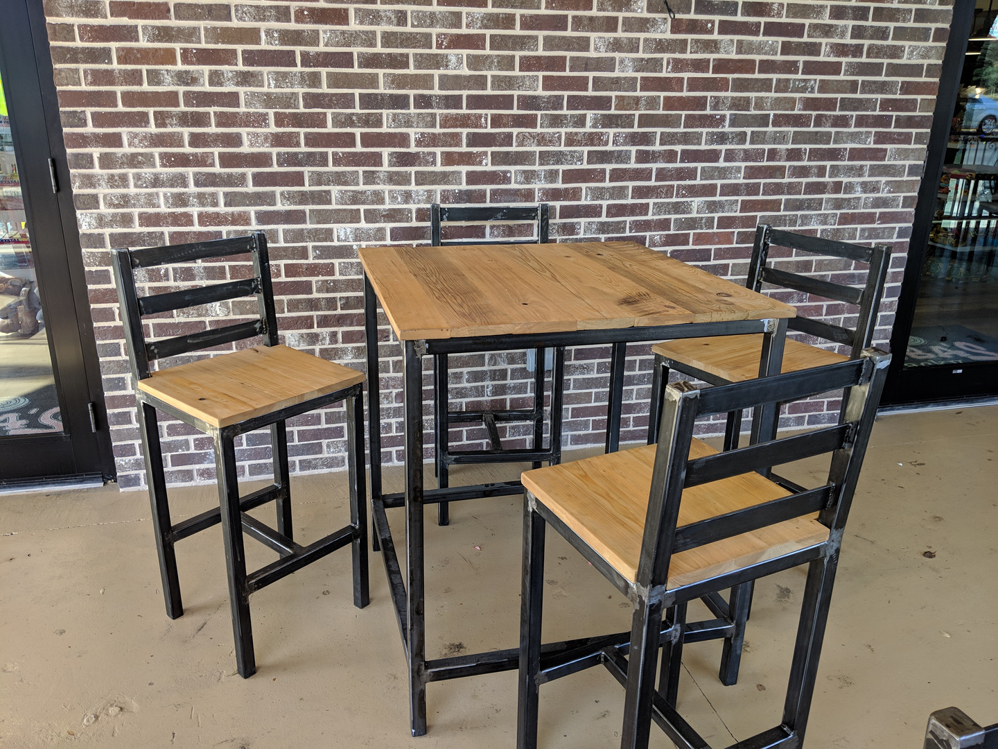 Black High Top Table & Chairs