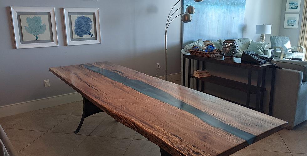 White Oak Slab Table, 8ft