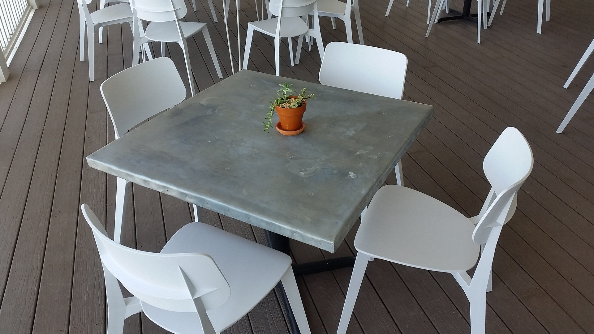 Metal Top Tables