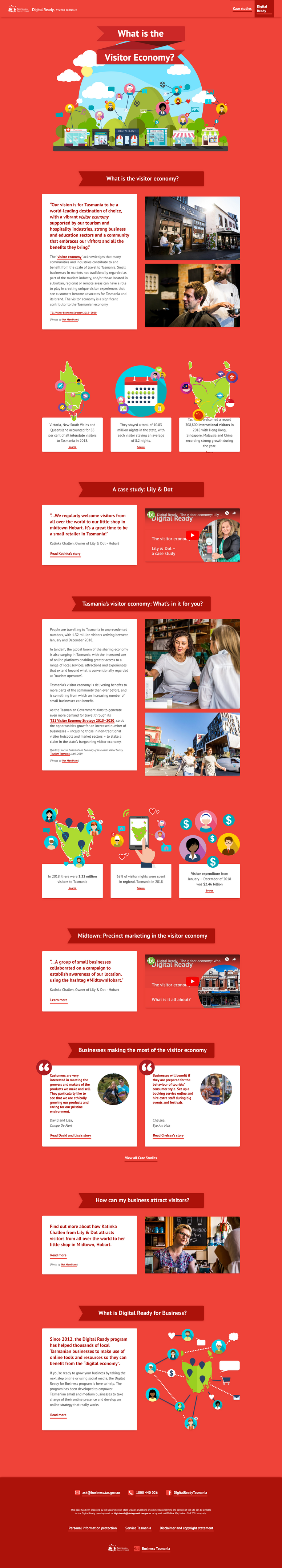 UX/UI design for Digital Ready Visitor Economy