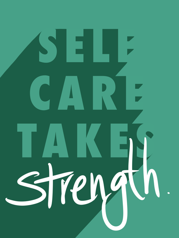Self-care typography