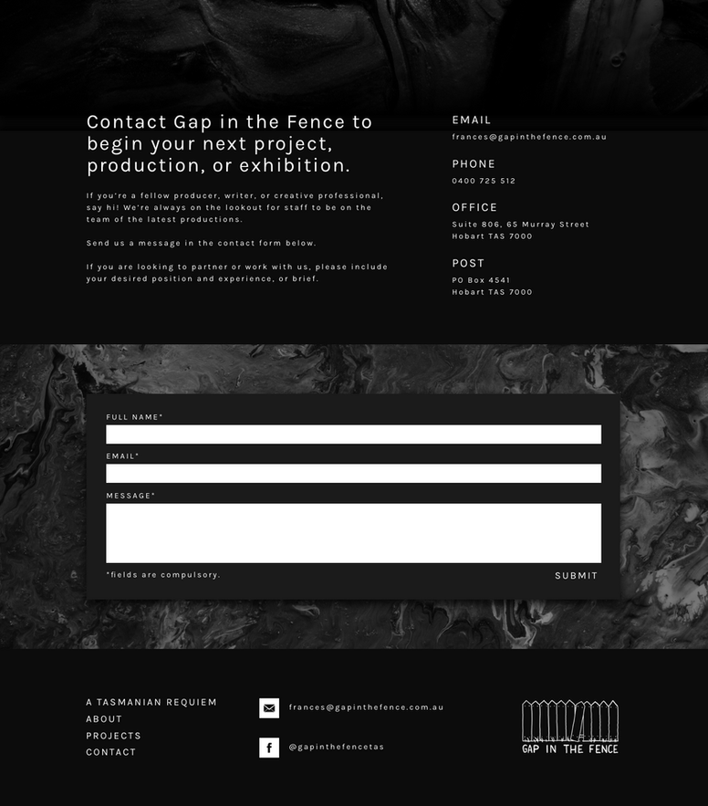 UI design for Gap in the Fence