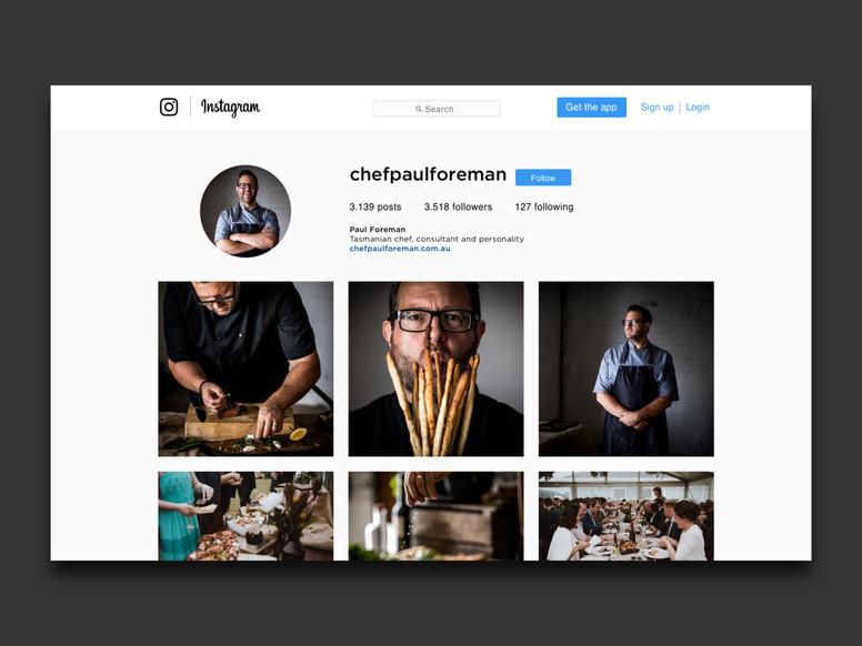 Paul Foreman Chef social media content