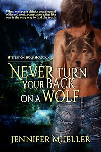 never turn your back on a wolf
