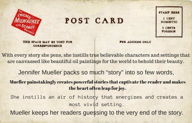 former reviews  Mueller keeps her readers guessing to the very end of hte story