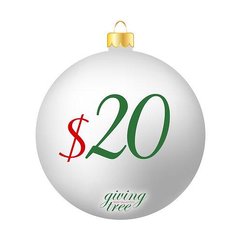 $20 Giving Tree Donation