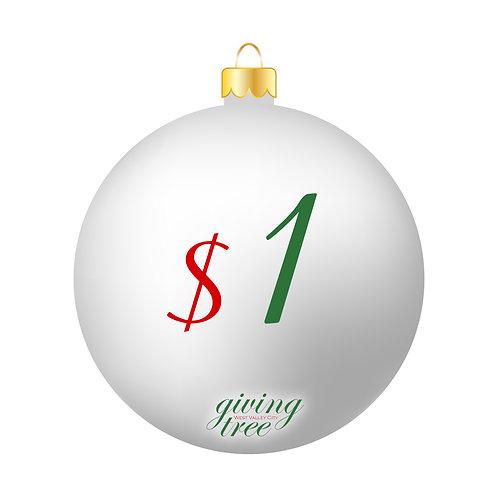 $1 Giving Tree Donation