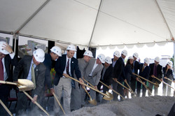 City Officials broke ground on Embas