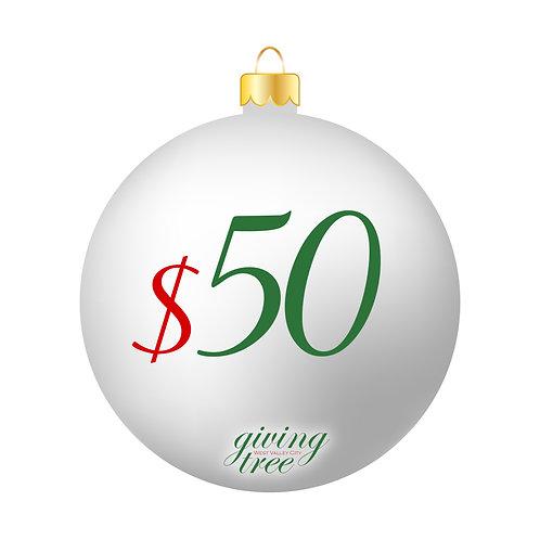 $50 Giving Tree Donation