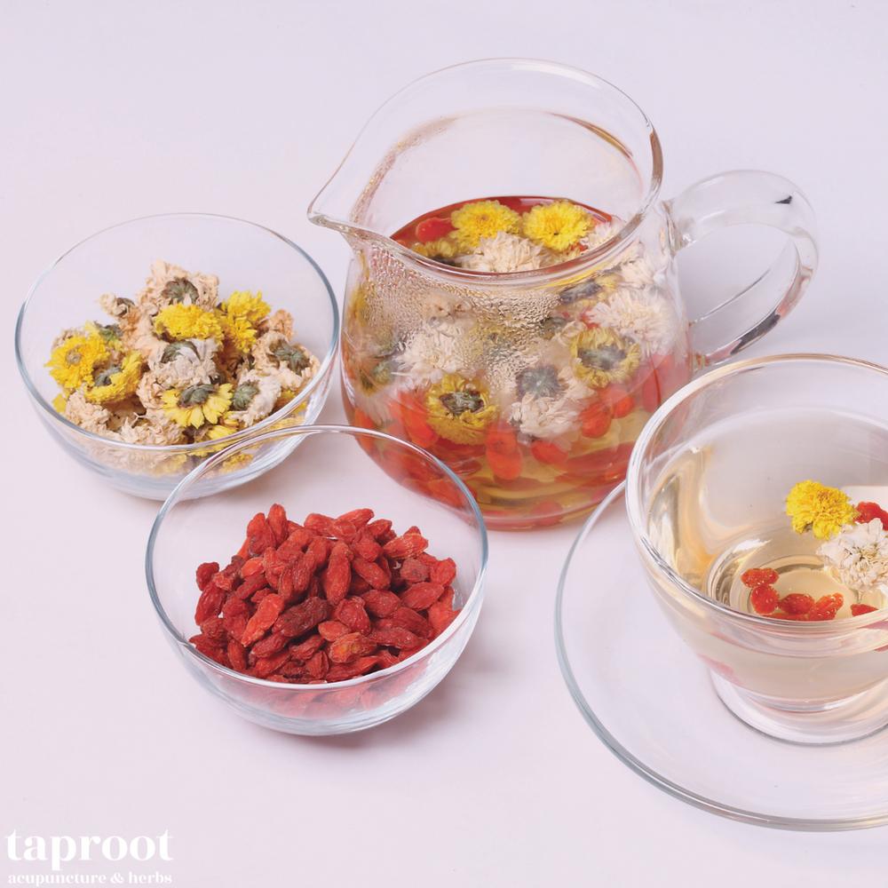 chrysanthemum and goji berries tea