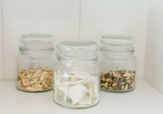 Chinese herbs in jars