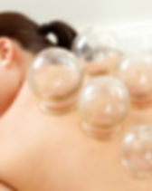 Acupuncture Fire cupping detail on woman