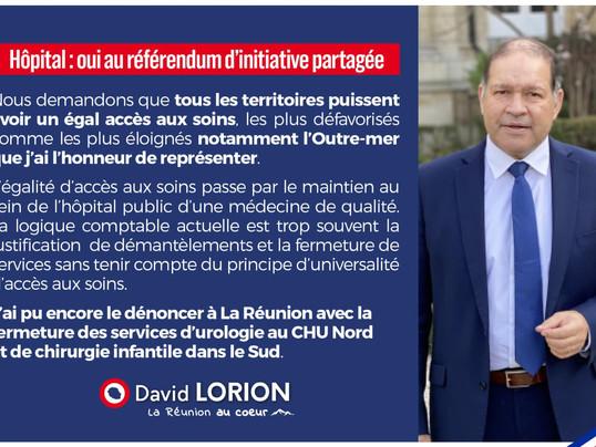 Hôpital : oui au référendum d'initiative partagée