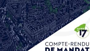 Bilan de mandat 2020-2021 de l'équipe municipale du 17ème : rendez-vous mercredi 20 octobre à 19h30