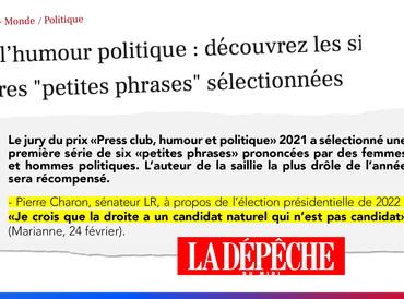 """Prix de l'humour politique : découvrez les six premières """"petites phrases"""" sélectionnées"""