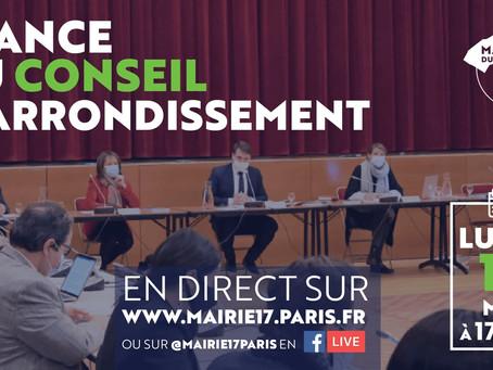 Conseil d'arrondissement autour de Geoffroy Boulard