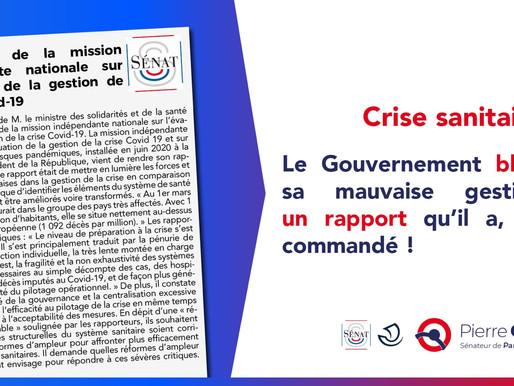 Conclusions de la mission indépendante nationale sur l'évolution de la gestion de la crise Covid-19