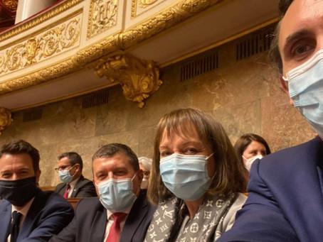 Avec mes collègues  : députés LR voisins d'hémicycle