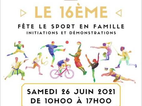 Fête du Sport organisée par l'OMS16 le 26 juin à l'Hippodrome d'Auteuil