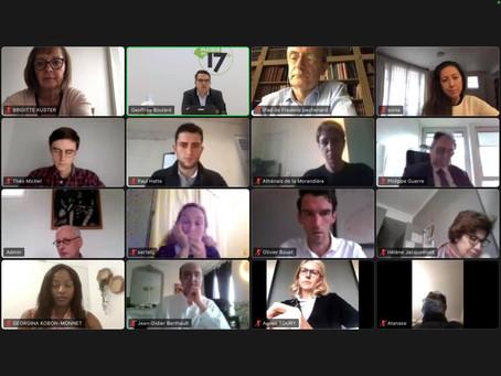 Paris 17 : Visioconférence avec l'équipe municipale du 17ème.