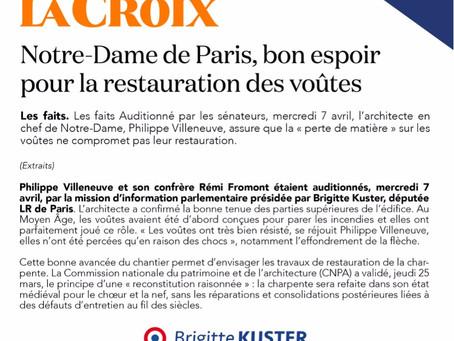 Notre-Dame de Paris, bon espoir pour la restauration des voûtes