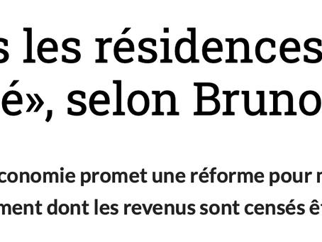 Suite à mon interpellation, Bruno Le Maire travaille à une réforme de l'immobilier de tourisme