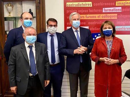 Conférence de Michel Barnier à la Maison de l'Europe, 29 avenue de Villiers, Paris 17e