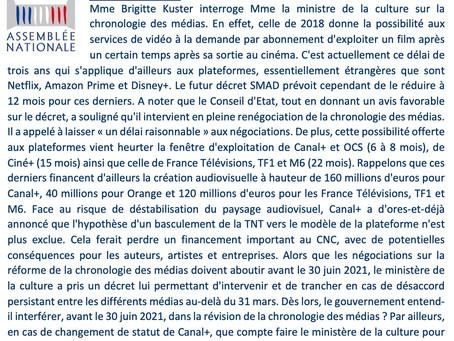 Que compte faire le ministère la culture pour garantir la création français ?
