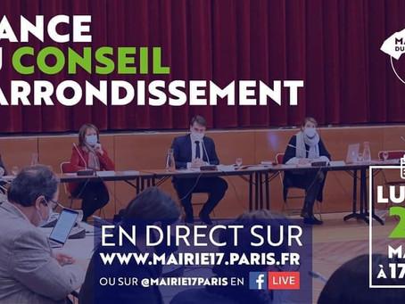 Séance du conseil d'arrondissement