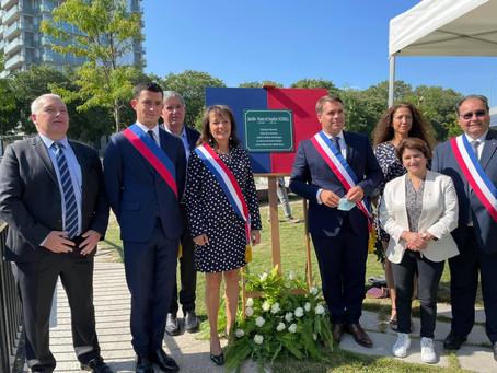 Inauguration du jardin Hans et Sophie Scholl