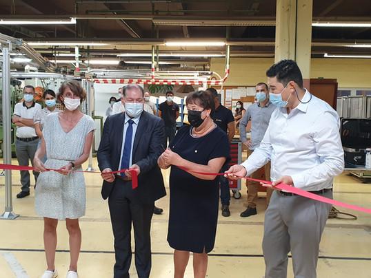 Inauguration d'une nouvelle ligne de production Coretab