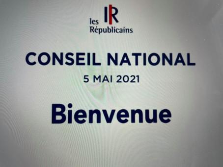 Conseil National : instance de notre mouvement Les Républicains