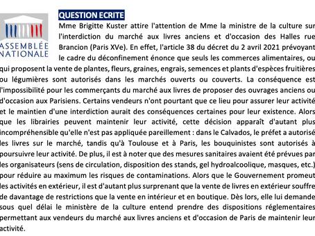 L'interdiction du marché aux livres anciens et d'occasion des Halles rue Brancion (Paris XVe)