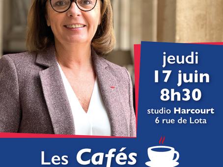 Café de la Députée, jeudi 17 juin à 8h30, au Studio Harcourt