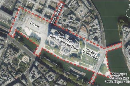 Conseil de Paris : projet de délibération sur le réaménagement des abords de Notre-Dame