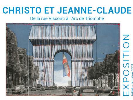 Exposition Christo et Jeanne-Claude, de la rue Visconti à l'Arc de Triomphe